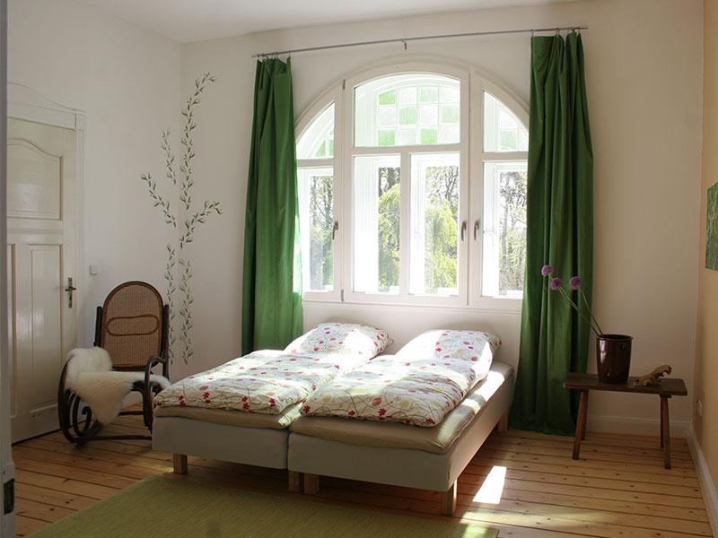 Das Schlafzimmer der Ferienwohnung