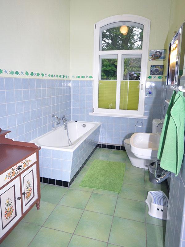 Eines der Badezimmer in der Rübenburg.