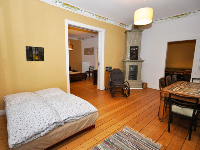 Fins Zimmer in der Villa Rübenburg.